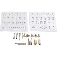 Metallikärjet, halk. 1-15 mm, 1 set