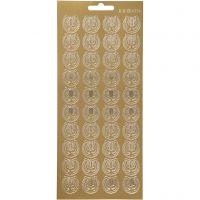 Ääriviivatarra, Lyyra, 10x23 cm, kulta, 1 ark