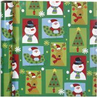 Lahjapaperi, jouluruudut, Lev: 70 cm, 80 g, 4 m/ 1 rll