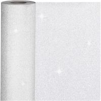Lahjapaperi, Lev: 50 cm, 80 g, hopea, 100 m/ 1 rll
