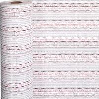 Lahjapaperi, doodle, Lev: 57 cm, 80 g, punainen, valkoinen, 150 m/ 1 rll