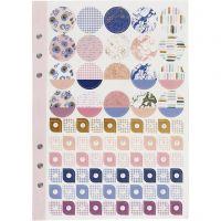 Tarrakirja, Kukat, A5, kulta, violetti, rosa, 1 kpl/ 1 pkk