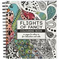 Aikuisten värityskirja, Flights of Fancy, koko 19,5x23 cm, 64 , 1 kpl