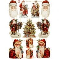 Kiiltokuvat, joulu, 16,5x23,5 cm, 3 ark/ 1 pkk