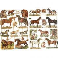 Kiiltokuvat, hevoset, 16,5x23,5 cm, 2 ark/ 1 pkk