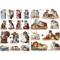 Kiiltokuvat, kissat, 16,5x23,5 cm, 2 ark/ 1 pkk