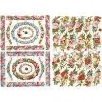 Kiiltokuvat, Pienet kukat, 16,5x23,5 cm, 2 ark/ 1 pkk