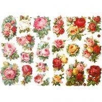 Kiiltokuvat, Ruusu lajitelma, 16,5x23,5 cm, 2 ark/ 1 pkk