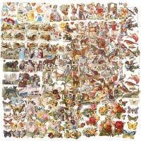 Kiiltokuvat, Lajitelma erilaisia ympärivuotisia aiheita, 16,5x23,5 cm, 30 ark/ 1 pkk
