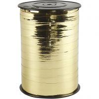 Lahjanauha, Lev: 10 mm, kiiltävä, metallikulta, 250 m/ 1 rll