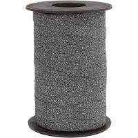 Lahjanauha, Lev: 10 mm, kimalle, musta, 100 m/ 1 rll