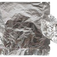 Lehtimetallijäljitelmä, 16x16 cm, hopea, 25 ark/ 1 pkk, 0,625 m2
