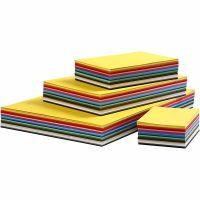 Värillinen kartonki, A2,A3,A4,A5,A6, 180 g, värilajitelma, 1800 laj/ 1 pkk