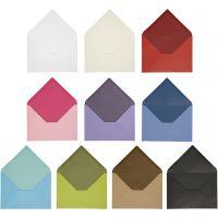 Kirjekuori, kirjekuoren koko 11,5x16 cm, Lajitelman sisältö voi vaihdella , 100 g, värilajitelma, 30 pkk/ 1 pkk