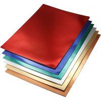 Metallikartonki, A4, 210x297 mm, 280 g, värilajitelma, 30 laj/ 1 pkk