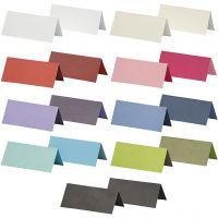 Paikkakortit, koko 9x4 cm, Lajitelman sisältö voi vaihdella , 250 g, värilajitelma, 30 pkk/ 1 pkk