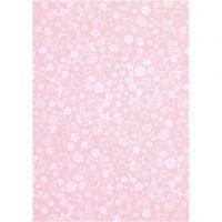 Paperi, A4, 210x297 mm, 80 g, vaaleanpunainen, 20 ark/ 1 pkk
