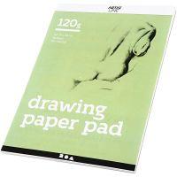 Piirustuslehtiö, A4, 210x297 mm, 120 g, valkoinen, 30 ark/ 1 kpl