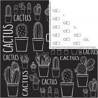 Kuviopaperi, kaktus, 180 g, 5 ark/ 1 pkk