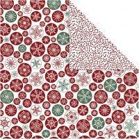 Kuviopaperi, jääkiteet ja pilkut, 30,5x30,5 cm, 180 g, 5 ark/ 1 pkk