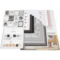 Kuviopaperilehtiö, koko 30,5x30,5 cm, 50 ark/ 1 kpl