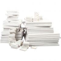 Taulupohjat , syvyys 2 cm, valkoinen, 300 kpl/ 1 pkk