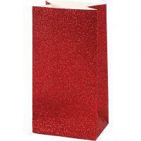 Paperipussi, Kork. 17 cm, koko 6x9 cm, 200 g, punainen, 8 kpl/ 1 pkk