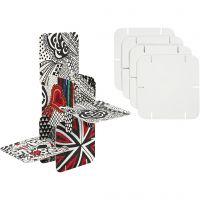Konstruktiopala, koko 9,3x9,3 cm, valkoinen, 20 kpl/ 1 pkk