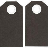 Kartonkietiketti, koko 6x3 cm, 250 g, musta, 20 kpl/ 1 pkk