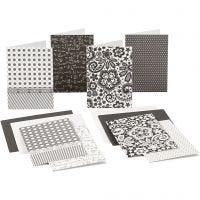 Korttipohjat ja kirjekuoret, kortin koko 10,5x15 cm, 220 g, 16 kpl/ 1 pkk
