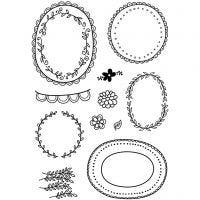 Kirkkaat leimasimet, Kukkakehykset, 11x15,5 cm, 1 ark
