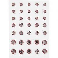 Akryylitimantit, pyöreä kartio, koko 6+8+10 mm, rosa, 35 kpl/ 1 pkk