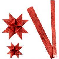 Paperitähtisuikaleet, Pit. 44+78 cm, halk. 6,5+11,5 cm, Lev: 15+25 mm, punainen, 32 suikaleet/ 1 pkk
