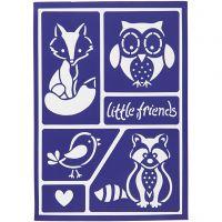 Taipuisa sabloni, little friends, 21x14,8 cm, 1 kpl