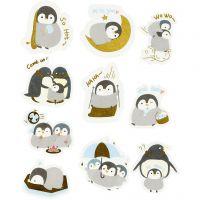 Kuvioteippitarrat, pingviinit, koko 40-53 mm, 30 kpl/ 1 pkk