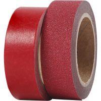 Design-teippi, Lev: 15 mm, punainen, 2 rll/ 1 pkk