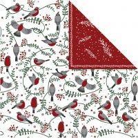 Kuviopaperi, Linnut ja oksat, 30,5x30,5 cm, 180 g, 5 ark/ 1 pkk
