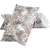 Lahjarasia, kukat, koko 23,9x15x6 cm, 300 g, beige, ruskea, rosa, valkoinen, 3 kpl/ 1 pkk