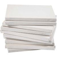 Taulupohjat, syvyys 1,6 cm, koko 18x24 cm, 280 g, valkoinen, 40 kpl/ 1 pkk