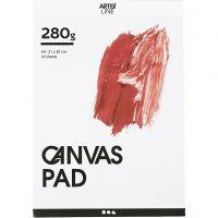 Canvaslehtiö, A4, 280 g, valkoinen, 10 ark/ 1 kpl