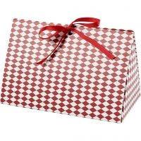 Taittelurasiat, harlekiinikuvio, koko 15x7x8 cm, 250 g, punainen, valkoinen, 3 kpl/ 1 pkk
