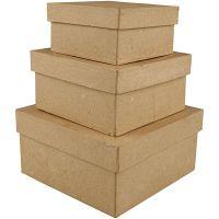 Pahvirasialajitelma, Kork. 5+6+7,5 cm, koko 10+12,5+15 cm, 3 kpl/ 1 set