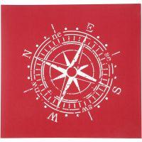 Painantasabloni, kompassi, 20x22 cm, 1 ark