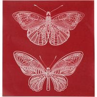 Painantasabloni, perhonen, 20x22 cm, 1 ark