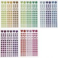 Mosaiikkitarrat, halk. 8-14 mm, 11x16,5 cm, värilajitelma, 10 ark/ 1 pkk