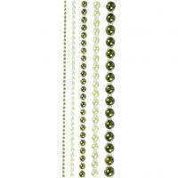 Helmenpuolikkaat, koko 2-8 mm, vihreä, 140 kpl/ 1 pkk