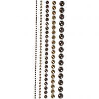 Helmenpuolikkaat, koko 2-8 mm, ruskea, 140 kpl/ 1 pkk