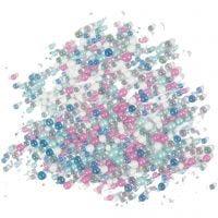 Mini lasihelmilajitelma, koko 0,6-0,8+1,5-2+3 mm, 600 g/ 1 tb