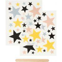 Siirtotarra, Tähdet, 12,2x15,3 cm, 1 pkk