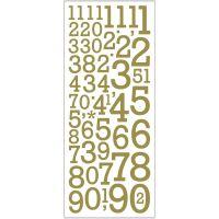 Kimalletarrat, numerot, 10x24 cm, kulta, 2 ark/ 1 pkk